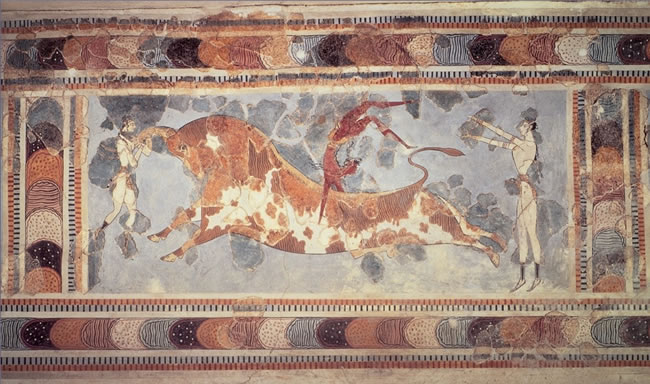 Fresco of bull from the Palace of  Knossos
